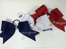Custom Personalized Name Cheer Bow Cheerleading Hair Bow Choose Color & Font