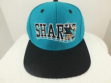 San Jose Sharks Hockey Retro Vintage  Snapback Hat Cap NEW By Reebox