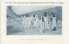 ANTIQUE ALGERIAN BEAUTIFUL COSTUME WOMAN SIDI NAIL OULED MINIATURE ART PRINT
