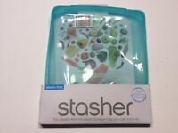 Stasher Sthg03 Silicone Food Reusable Bag - Blue Cook Freeze Store Half Gallon