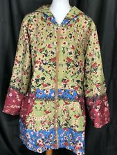 Misslook Womens Floral Faux Fur Lined Zip Up Jacket Size 3XL