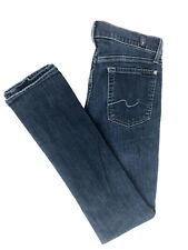 7 Seven For All Mankind Roxanne Skinny Dark Jeans cotton blend Sz 28 (30x31)