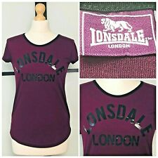Lonsdale London | Purple Stretch Fit Exercise Gym Workout T-shirt | Womens 10