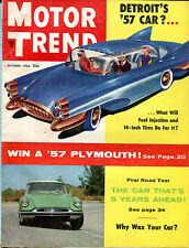 Motor Trend Magazine October 1956 Detroit's '57 Car? VGEX 122215jhe