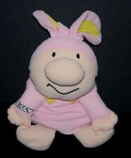 """Ziggy Bunny Bean Bag Plush Toy 1998 Kelly Toy 12 - 17 """" Pink Easter"""