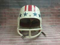 Vintage Football Helmet Medium Red Stripes Blue Stars.TOMMY MASON.