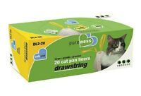 Van Ness Large Drawstring Valu-Pak Cat Pan Liners, 20 Count, NEW
