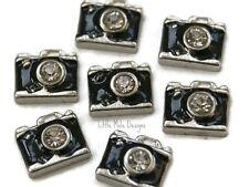 Black Camera Floating Charm For Living Memory Locket Pendant Necklace Keychain
