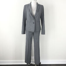 Ann Taylor 2 4 Gray Pant Suit Career Cocktail Excellent All seasons Suiting
