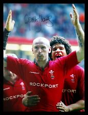 More details for gareth thomas hand signed  12x16 wales rugby photograph :  b