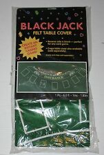 Blackjack Felt Table Cover - 6 feet length - New and unopened in sealed package
