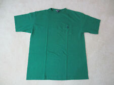 VINTAGE Nautica Competition Shirt Adult Extra Large Green Blue Pocket Tee 90s