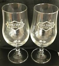 2 - Boulevard Brewing Company 25cl Beer Glasses Kansas City Missouri Brewery