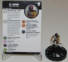 Lt Worf 024 Star Trek Tng Pour Boldly Go Heroclix Rare Postal Équipe