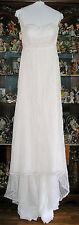 NEW $800 Wedding Dress Size 8 Davids Bridal Galina Ivory Lace Sweetheart Neck