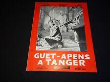 GUET APENS A TANGER  rare scenario dossier presse cinema espionnage 1957