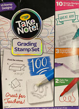 Crayola Take Note Grading Stamp Set Teachers Stencil W/Pens, Erasable Highlight