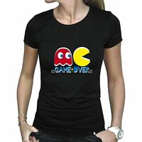 Ladies Pac-Man Game Over Fitted T-Shirt - Womens Retro Gamer Tee