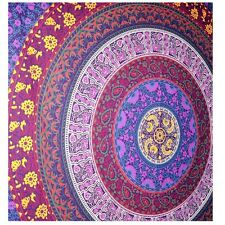 Indian Mandala Wall Hanging Tapestry 54 X 84 Inches Cotton Fabric Multicolored