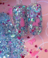 glitter mix acrylic gel nail Art  IT'S A GIRL