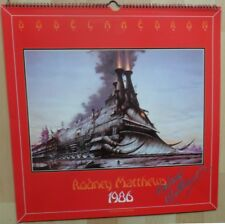 RODNEY MATTHEWS 1986 DODECAHEDRON calendar , hand signed,  great condition