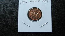 1962 Canadian  penny (hanging 2) unirculated, Lowest price on Ebay!