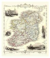 Histoire Portail Irlande 1851 Carte X 1000 Pièce Jigsaw 690mm x 480mm ( Jg )