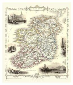 History Portal Ireland 1851 Map John Tallis 1000 Piece Jigsaw 690mm x 480mm (jg)