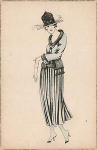 2 Early  E WEBER  Fashion Glamour Postcards A