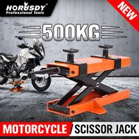 Motorcycle Jack Scissor Lift Hoist Stand Bike Lifter Trolley Part 500KG/1100LB