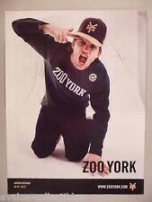 Ashton Kutcher for Zoo York PRINT AD - 2004 ~~ Zooyork