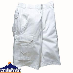 White Painters Shorts mens Decorators Work Combat 100% cotton builders size S791