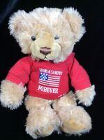 "Gund Bear Hugs Celebrating America Plush Red Hoodie Stars & Stripes 11"" 15431"