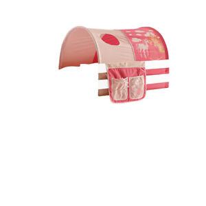Tunnel mit Gestänge + Bett-Tasche 100% BW Prinzessin pink für Hochbett Spielbett