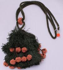 Olive Green Braided Drapery Curtain Tieback Tassels Decorative Knots M423.07