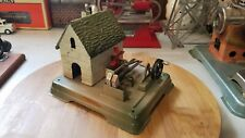 vintage Fleischmann live steam engine accessory , hammer mill , tin toy