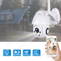 1080P HD Waterproof Outdoor WiFi PTZ Pan Tilt Security IP IR Camera 2 Way Audio