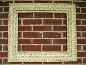 Antique Aesthetic Victorian James Green Cottage White Gold Picture Frame 16 x 20