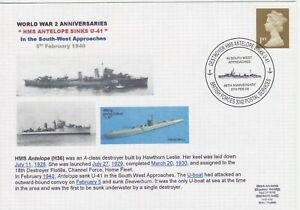 GB Stamps Navy Souvenir Cover WWII Anniversaries HMS Antelope sinks U Boat 2008