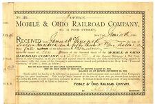 Mobile & Ohio Railroad Company. Stock Certificate