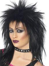 Black Rock Diva Perruque de femmes années 80 Déguisement afférentes année 1980