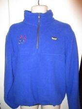 MARKER ~USA OLYMPIC~ FLEECE PULL OVER JACKET 1/4 ZIP Men's XL COAT BLUE