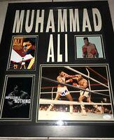 Muhammad Ali Framed 16x20 Signed 8x10  Autographed Photo JSA LOA COA Boxing HOF