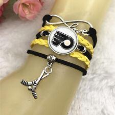 Philadelphia Flyers hockey NHL Glass Cabochon Infinity Handmade Bracelets NEW