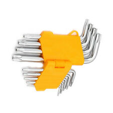 New Offset Safety Anti Tamper Proof Torx Star Allen Key Bits Wrench Set Long Arm