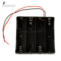 Battery Holder Box Case DIY For Battery Packs with Wire Lead For 4x 18650 Cases
