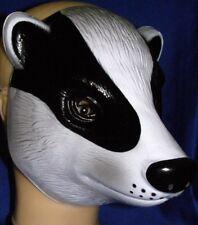 Skunk or Badger Mask ! Black & White Life Like Animal Mask !