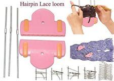 Hairpin Lace Loom,Yarn Knitting Loom For Flower,Scarf,Bag,Easy DIY Knit Tool