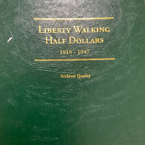 Walking Liberty Half Dollar Set, 1916 - 1947, Complete!! Good to Higher Grades!