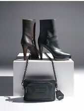 Longchamp Legende Black Leather Boots, Size 39 / US 9